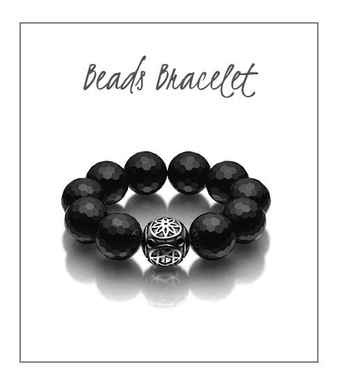 Beads Bracelet Black