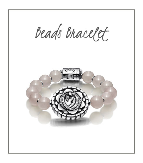 Beads Bracelet Pink